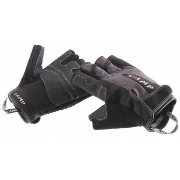 guanti per ferrata a dita soperte