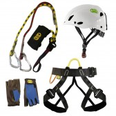 KIT FERRATA Kong KKR + Indiana + Mouse + Pop Gloves
