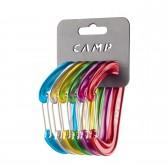 Set moschettoni CAMP - RACK PACK NANO 22 - 6 Pz colori assortiti - I più leggeri al mondo