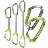 Rinvii LIME-M SET DY - Climbing Technology - fettuccia Dyneema - misure: 12 - 17 - 22 cm - moschettone lucido o colorato - Made in Italy