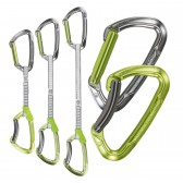 Rinvii LIME SET DY - Climbing Technology - fettuccia Dyneema - misure: 12 - 17 - 22 cm - moschettone lucido o colorato - Made in Italy
