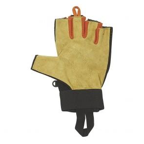 guanti ferrata pelle mezze dita