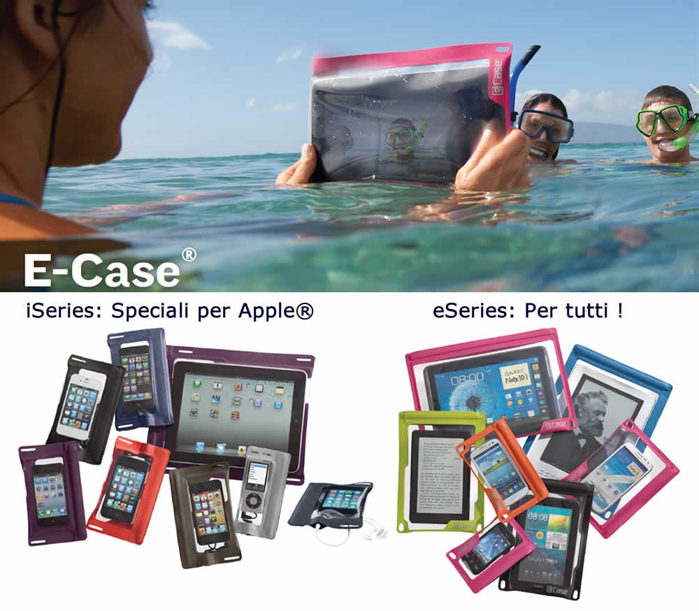 custodie impermeabili cellulari e tablet